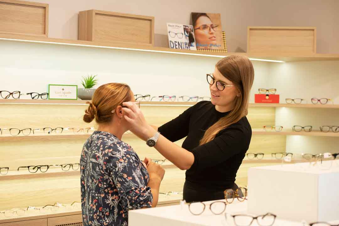 Choosing glasses from our wide range of frames